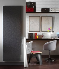 radiateur electrique vertical noir id e chauffage. Black Bedroom Furniture Sets. Home Design Ideas