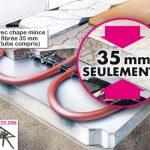 Plancher chauffant electrique renovation mince