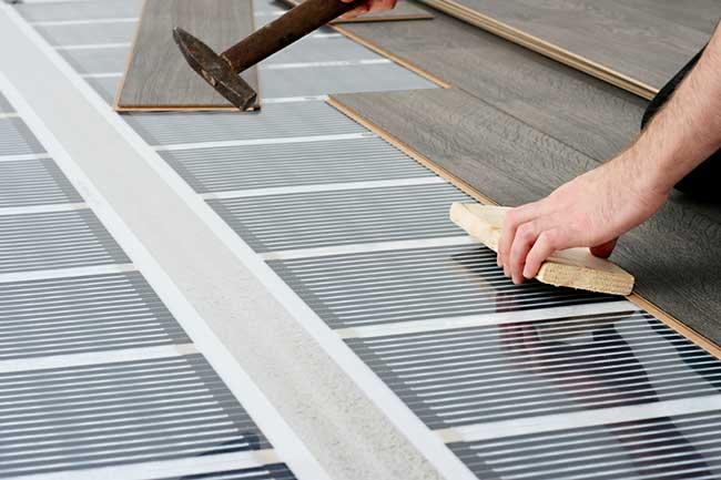 plancher chauffant electrique sous parquet id e chauffage. Black Bedroom Furniture Sets. Home Design Ideas