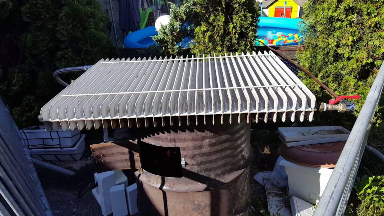 Chauffage piscine au bois fait maison id e chauffage - Fabriquer un chauffe eau piscine bois ...