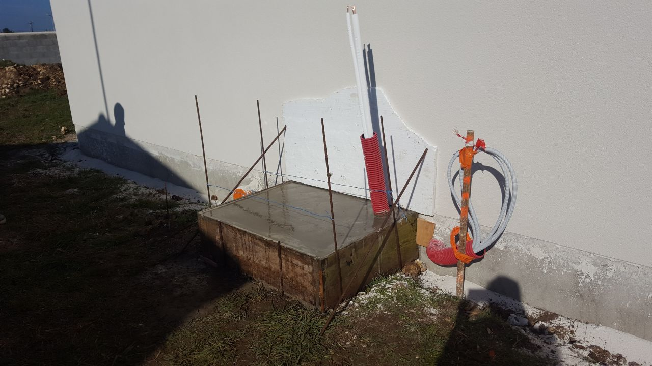 Dalle beton pompe a chaleur