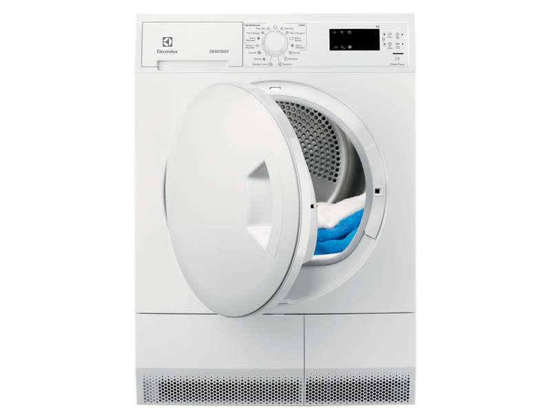 Sèche linge pompe à chaleur 8kg electrolux edh3638poe