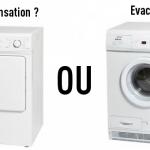 Difference seche linge pompe a chaleur et evacuation
