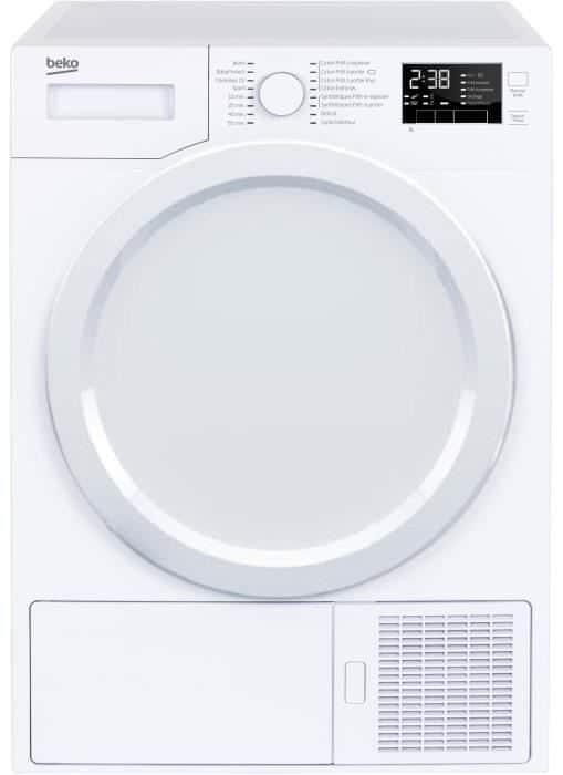 Candy csh8a1le sèche linge frontal-8 kg-pompe à chaleur-a+-blanc