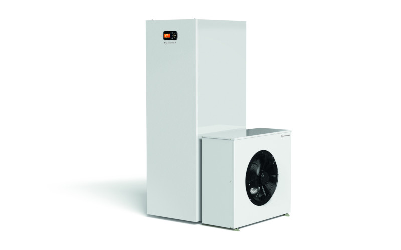 Chaudière à gaz à condensation avec pompe à chaleur