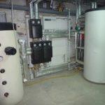 Pompe a chaleur air eau dans un local