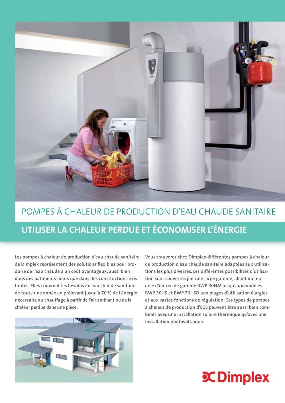 Production d'eau chaude par pompe à chaleur