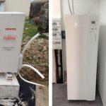 Photo d'installation de pompe a chaleur