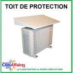 Toit de protection pour pompe a chaleur