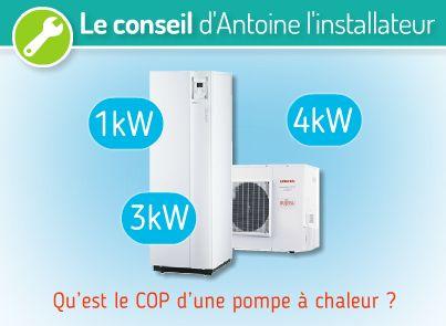 Coefficient performance pompe a chaleur